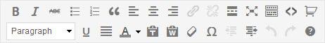 WordPress Formatting Bar